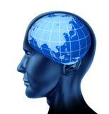 Économiste principal d'homme d'affaires de l'Asie l'orient de cerveau illustration de vecteur