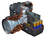 Écorché d'appareil photo numérique Photographie stock libre de droits