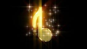 Écorchés pour la vidéo avec les signes musicaux banque de vidéos