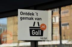 Écorchure et Gall Liquor Shop At Amsterdam de panneau d'affichage le 2018 néerlandais images stock