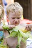 Écossage du maïs Photographie stock