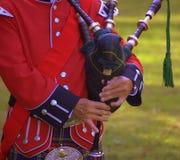 écossais de joueur de pipeau photos stock