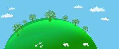 Écosystème d'environnement de la terre de vert de fond d'en-tête illustration de vecteur