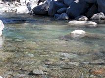 Écoulement calme de rivière photographie stock libre de droits