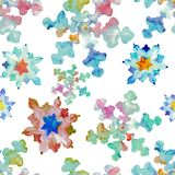 Écoulement de couleurs de flocon de neige de kaléidoscope illustration stock