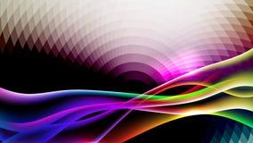 Écoulement de Dinamyc, vagues stylisées, vecteur Image stock