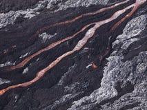 Écoulement de lave chez Hawaï Volcano National Park image libre de droits