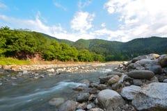 Écoulement de rivière Images libres de droits