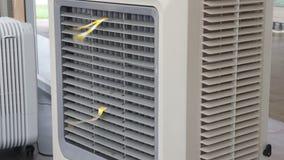 Écoulement de vent de fan de refroidisseur d'air d'évaporation banque de vidéos