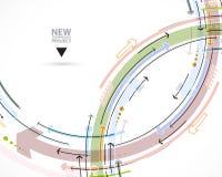 Écoulement des flèches Imagination du processus d'affaires ou de technologie V illustration libre de droits