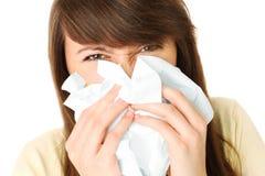Écoulement nasal Photos libres de droits