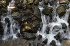 Écoulements d'eau avec le vent d'août Photo stock