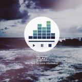 Écoutent le concept audio de pause de jeu de musique photographie stock