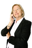 Écouter aîné l'appel téléphonique Photographie stock libre de droits