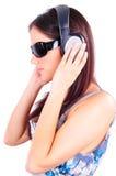 Écouter la musique Photo stock