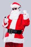 Écouter la musique de Noël Images stock