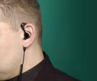 Écouteur Photographie stock libre de droits