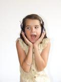 écouteur de fille Photographie stock