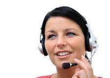 écouteur de fille Photos libres de droits