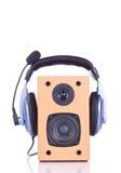 Écouteur sur le loudspreaker Photos libres de droits