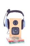 Écouteur sur le loudspreaker Image stock