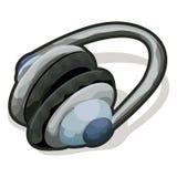 Écouteurs avec le chemin de découpage Photo libre de droits