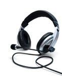 Écouteurs avec le microphone Image libre de droits