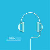 Écouteurs avec un fil Photos libres de droits