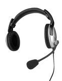 Écouteurs avec un microphone Photos stock