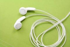 Écouteurs blancs Photo libre de droits