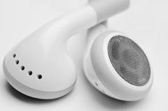 Écouteurs blancs Images libres de droits