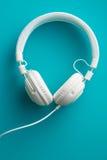 Écouteurs blancs de vintage Image stock