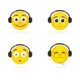 Écouteurs d'émotions de sourire Image stock