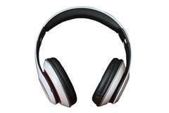 Écouteurs d'isolement sur le fond blanc images stock