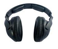Écouteurs d'isolement sur le fond blanc Photos libres de droits