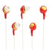 écouteurs de Dans-oreille d'isolement Photographie stock libre de droits