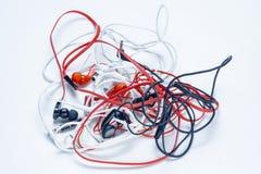 Écouteurs de différentes couleurs photo libre de droits