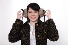 Écouteurs de l'hiver Image stock