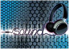 Écouteurs de musique Images stock