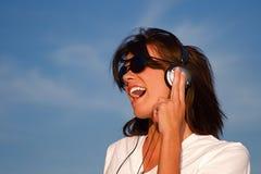 Écouteurs de musique Photographie stock libre de droits
