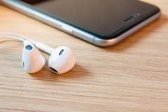 Écouteurs de plan rapproché Image stock