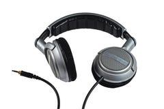 Écouteurs du DJ sur le fond blanc Image libre de droits