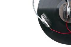 Écouteurs et enregistrement de vinyle photo libre de droits