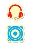 Écouteurs et graphismes de haut-parleur Photos libres de droits