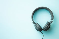 Écouteurs gris de vintage Images stock