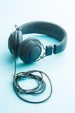 Écouteurs gris de vintage Photo stock