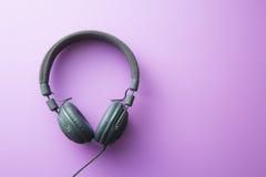 Écouteurs gris de vintage Photos libres de droits