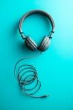 Écouteurs gris de vintage Image stock