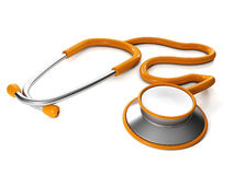 Écouteurs médicaux sur le backgroun blanc Images libres de droits