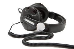Écouteurs noirs Photographie stock